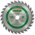 Oshlun SBFT-160028 160mm 28 Tooth FesPro General Purpose ATB Saw Blade with 20mm Arbor for Festool TS 55 EQ, DeWalt DWS520, and Makita SP6000K