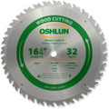 Oshlun SBW-164032 16-5/16-Inch 32 Tooth Beam ATB Saw Blade with 1-Inch Arbor