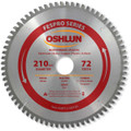 Oshlun SBFT-210072A 210mm 72 Tooth FesPro Non Ferrous TCG Saw Blade with 30mm Arbor for Festool TS 75 EQ