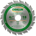 Oshlun SBW-044018 4-3/8-Inch 18 Tooth ATB Fast Cutting and Trimming Saw Blade with 20mm Arbor