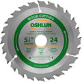 Oshlun SBW-054024 5-3/8-Inch 24 Tooth ATB General Purpose and Trimming Saw Blade with 20mm Arbor (5/8-Inch and 10mm Bushings)