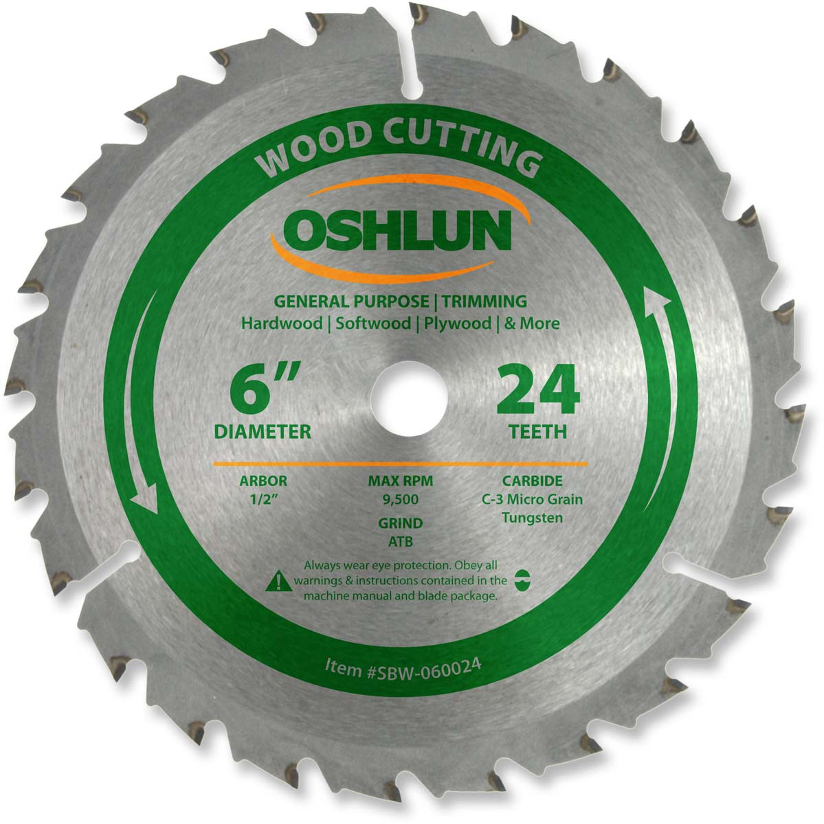 Oshlun SBW-034024 3-3//8-Inch 24 Tooth ATB General Purpose and Trimming Saw Blade