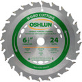 Oshlun SBW-065024 6-1/2-Inch 24 Tooth ATB General Purpose and Framing Saw Blade with 5/8-Inch Arbor (Diamond Knockout)