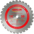 Oshlun SBR-140030 14-Inch 30 Tooth FTG Saw Blade with 1-Inch Arbor (7/8-Inch and 20mm Bushings) for Rescue and Demolition