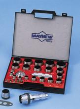 27 Pc Hollow Punch Set, Mayhew 66002