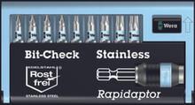 9 Pc Stainless Steel Bit Set (PH/PZ/TX) , Wera 05071110007