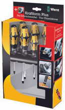 "Wera Series 900 6 Piece Slotted / Phillps Screwdriver Set with Integrated 1/4"" Drive Ratchet Adapter"