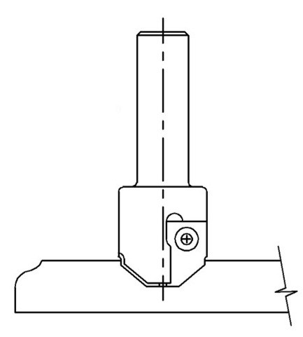 One Pass MDF Door Profile Insert, Vortex INS-8210
