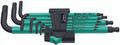 Wera 950 SPKL/9 SM 9 Pc Ball End Hex L-Key Set, 1.5-10mm
