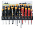 Felo 61391 17 Piece Screwdriver Set w/ Steel Wall Rack