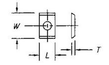 Reversible Insert Knife, 2 Cutting Edges w/ 1 Hole - Carbide Processors I-151215