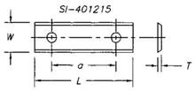 Reversible Insert Knife, 2 Cutting Edges w/ 2 Holes - Carbide Processors I-251215-2