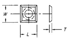Reversible Insert Knife, 4 Cutting Edges w/ 1 Hole - Carbide Processors I-141412