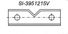 Reversible V-Groove Insert Knife - Carbide Processors I-3951215V