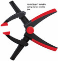 VarioClippix Variable Spring Clamp with double adjustable sliding jaws, 6 1/2 Clamp Capacity, 2 Throat Depth, Bessey XV5-170