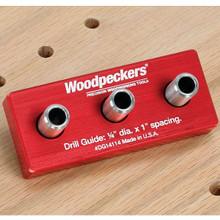 "Drill Guide, 1/4"" diameter, 1"" spacing, Woodpecker - Woodpeckers DG14134"