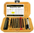 Chapman Made in the U.S.A master kit 5575 is all you need! This 53pc set includes the most used bits, a screwdriver handle and the popular Midget Ratchet. Each bit is made from tool grade steel, heat treated & black oxide coated. American made and superior quality at it's finest!