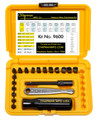 Chapman's Made in the USA 21pc Slotted Offset Screwdriver and Ratchet Set is precision machined in the USA out of USA tool steel. The bits are hardened and have a black oxide finish, ball detent and ear stops. All the tools in this kit are interchangeable.