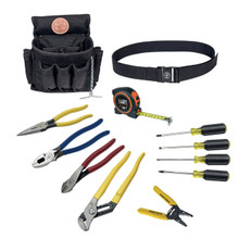 12- Piece Electrician Tool Set, 18-Pocket Tool Pouch, Klein Tools 92003