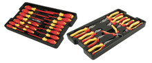 Insulated Industrial Combo Tool Tray Sets, 28 Piece , Wiha 301-32989