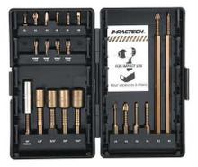 """IMPACTECH 21pc Set, 1/4"""" Drive Hex, Phillips, Square, Torx, Nutsetter, Bit Holder, Vega P21-1DB"""