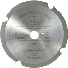 Oshlun SBFT-160004H 160mm, 4 Tooth FesPro Fiber Cement Cutting FTG Saw Blade with 20mm Arbor for Festool TS 55 EQ or ATF 55 E & DeWalt DWS520 & Makita SP6000K