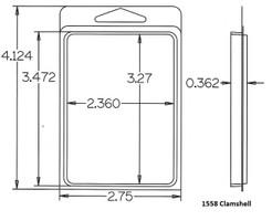 1558 Clamshell Sample