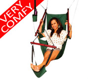 Tropicana Canvas Hammock Chair with Drink Holder