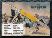 Northfield Cattle Baron Yellow Rose Knife - Serialised