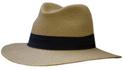 Panama Classic Safari Fedora Hat - Putty