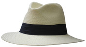 Panama Classic Safari Fedora Hat - Natural