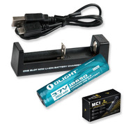 Lithium 18650 Torch Battery & Charger