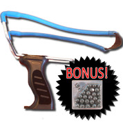 Pistol Mate Adjustable Slingshot w Pellets