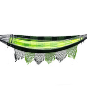Neon Green Hammock with Crochet Fringe