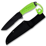 Fury Outback Knife with Neon Green Cord