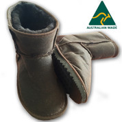 Burke And Wills Weatherproof Oilskin Ugg Boots