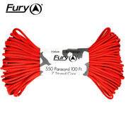 Fury Paracord Neon Hellfire Red