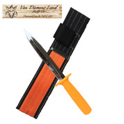 Van Diemens Land Orange Pig Sticker Knife with Sheath