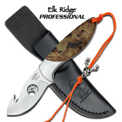 Elk Ridge Professional Camo Gut Hook Skinner Knife