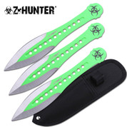 Green Zombie Throwing Knives