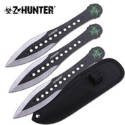 Black Zombie Throwing Knives