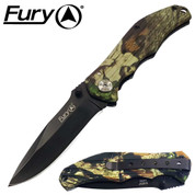 Fury Companion Hunter Pocket Knife in Camo
