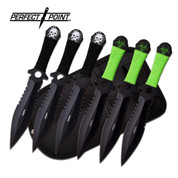 Biohazard vs Black Skull Throwing Knives - 190mm