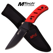 M-Tech Red Rubber Handle Knife