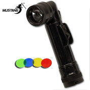 Black Military Angle Head Torch - D