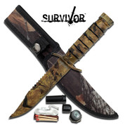 Camouflage Survival Kit Knife