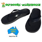 Aussie Soles Orthotic Thongs - Black