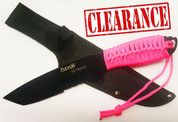 Fury Outback Knife with Fluro Pink Cord - No Box