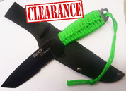 Fury Outback Knife with Neon Green Cord - No Box
