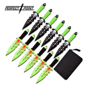 Green Skull Throwing Knife Set - 12pc